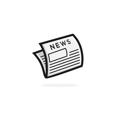 newspaper logo icon clipart vector image