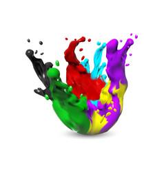 Paint splash isolated vector