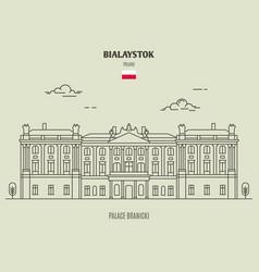 Palace branicki in bialystok vector