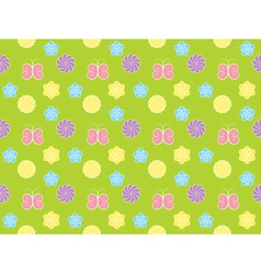 pattern with flowers and butterflies vector image