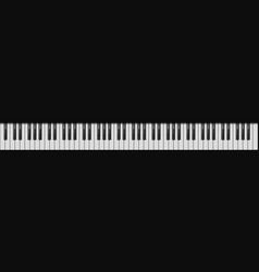 piano 88 keys realistic style vector image