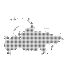 Pixel map of russia dotted map of russia isolated vector