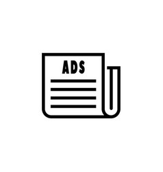 press newspapers and magazines media channel icon vector image