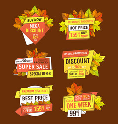 promotion discounts on thanksgiving day isolated vector image