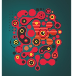 Psychedelic background vector image
