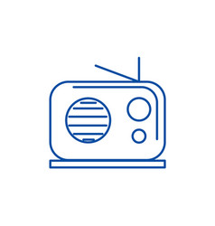 radio reciever line icon concept radio reciever vector image