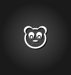 sad panda icon flat vector image
