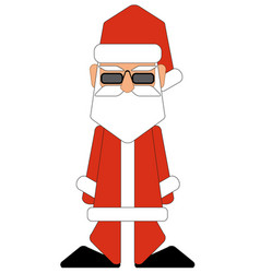 Santa claus on white background for retro vector