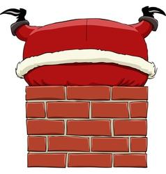 Santa in chimney vector