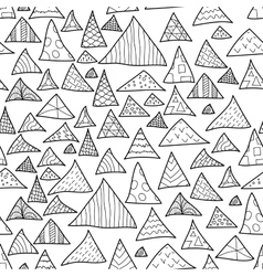 Seamless background black and white hipster vector