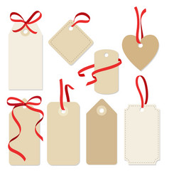 set blank vintage frames gift tags labels vector image