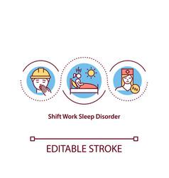Shift work sleep disorder concept icon vector