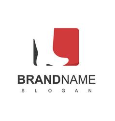 shoes logo design inspiration man boot symbol vector image