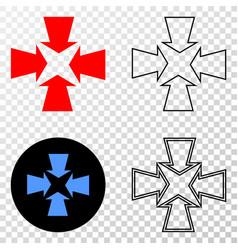 Shrink arrows eps icon with contour version vector