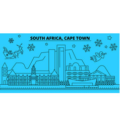 south africa cape town winter holidays skyline vector image
