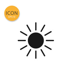 sun icon isolated flat style vector image