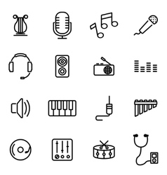 Thin line icons - music vector