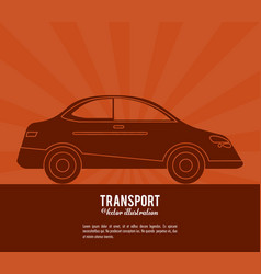 Transport car vehicle design vector