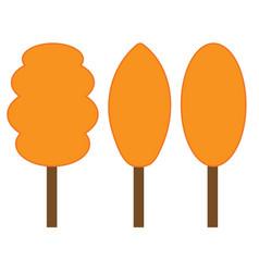tree orange sign set 306 vector image