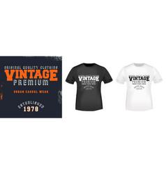 Vintage t shirt print stamp vector