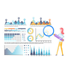 visual representation business analysis diagram vector image