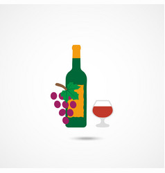 wine flat icon vector image