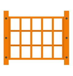 Yard fence icon isolated vector