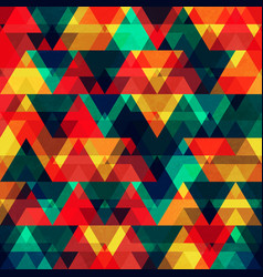 yellow triangles seamless pattern vector image
