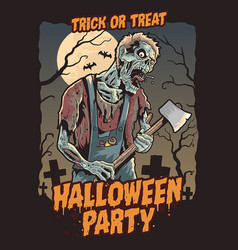 Zombie halloween party vector