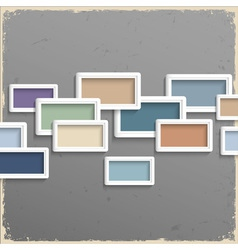3d frames on grunge background vector image