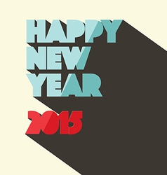Happy New Year 2015 Title in Retro Style vector image