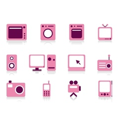 Home appliance objects set vector image vector image