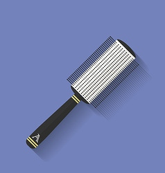 Icon of Comb hairbrush Flat style vector image