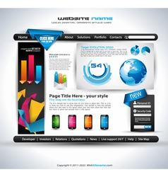 Modern web templave vector image vector image