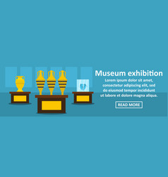museum exhibition banner horizontal concept vector image vector image