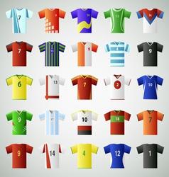 Soccer jersey t shirt set vector