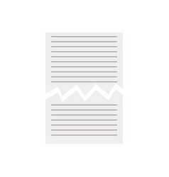 torn paper sheet icon vector image