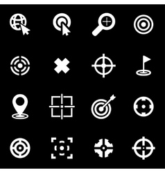 white target icon set vector image vector image