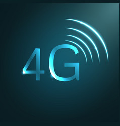 4g sign icon vector image vector image