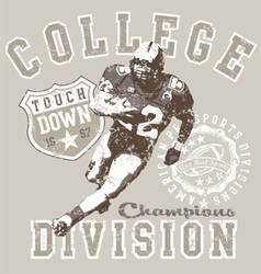 college football div vector image vector image