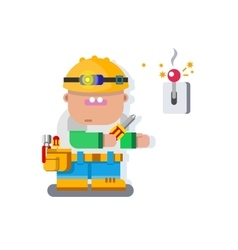 Electrician character flat design vector image vector image