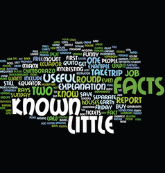 Little known facts text background word cloud vector