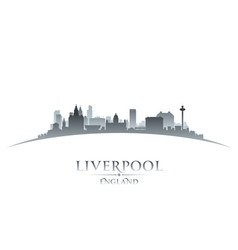 Liverpool England city skyline silhouette vector image vector image