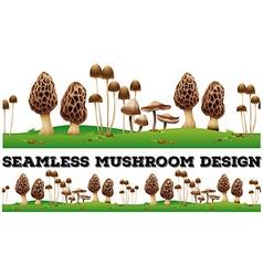 Seamless fresh mushroom on the ground vector image vector image