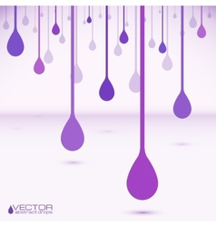 Violet flat water drops vector image vector image