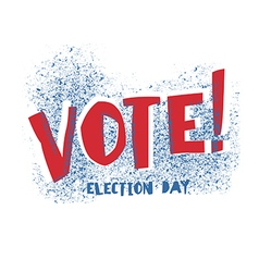 Vote typography Election day logo Isolated on vector image vector image