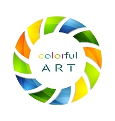 Abstract colorful circle logo background vector image