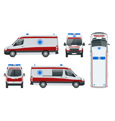 ambulance car an emergency medical service vector image vector image