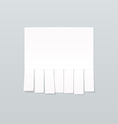 Blank sheet of paper advertising with cut slips vector image