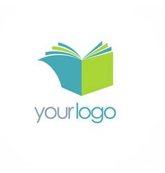 book knowledge logo vector image vector image